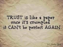 mistet tillid til partner